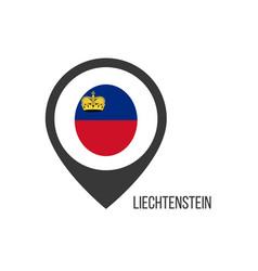 Map pointers with contry liechtenstein vector