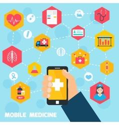 Mobile health concept vector