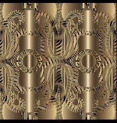 modern gold 3d greek seamless pattern ornamental vector image