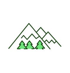 Mountains rgb color icon vector