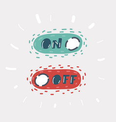 On and off icon on white vector