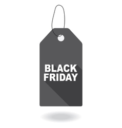 Paper tag plate for black friday vector