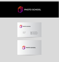 photo school logo vector image
