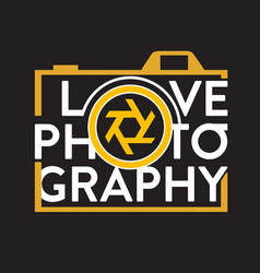 Photography quote and saying good for print design vector