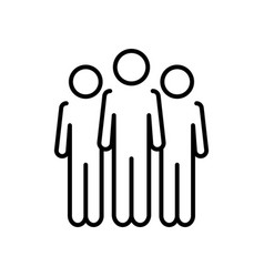 Pictogram people standing icon line style vector