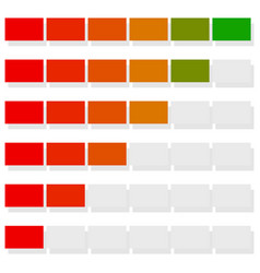 Progress bar bar chart vector
