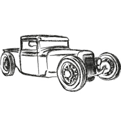 Rat rod vector