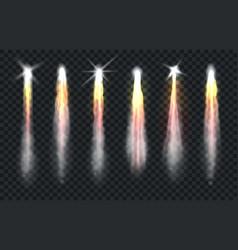 realistic rocket smoke vector image