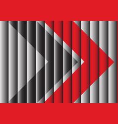 red black arrow on gray shutter design modern vector image