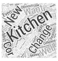 Remodeling Your Kitchen Why You Should Also Change vector image
