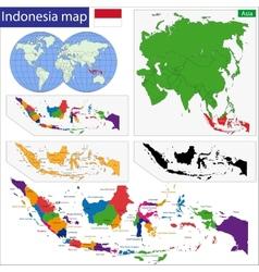 Republic of Indonesia vector image