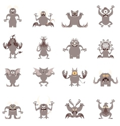 Set of flat moster icons5 vector image