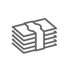 simple pile of money line icon symbol and sign vector image