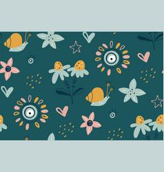 spring summer flower texture garden flower vector image