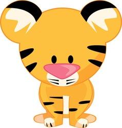 Stuffed tiger vector