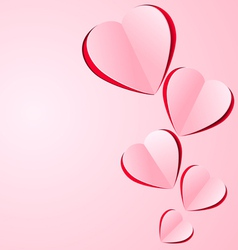 Stylized paper heart vector