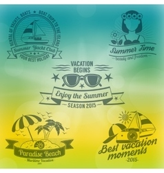 Summer background composition vector image