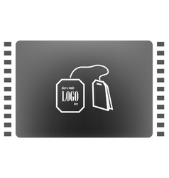 teabag tea bag line art icon for apps and vector image