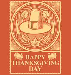 thanksgiving day poster vector image