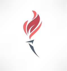 Torch icon Logo design vector