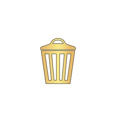 Trash can computer symbol vector