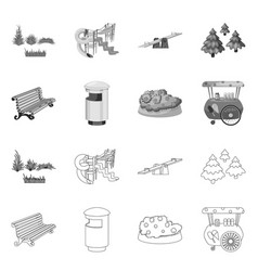 urban and street icon set vector image