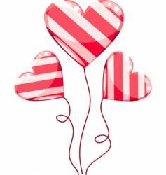 valentines hearts balloons cartoon vector image