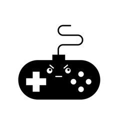 Video game control kawaii character vector