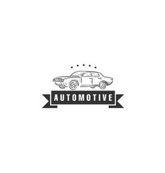 vintage automotive logo designs vector image