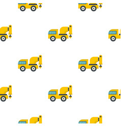 Yellow drilling machine pattern flat vector