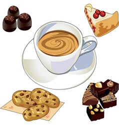 Coffee breakfast vector image vector image