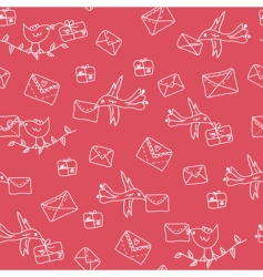 post pattern vector image vector image