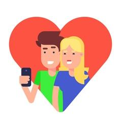 Selfie Couple vector image vector image