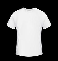 White t-shirt stock vector