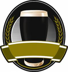 black beer label vector image vector image