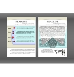 brochure template with layers and shadows vector image