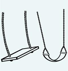 Garden swing hanging vector image vector image