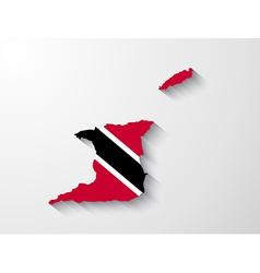 Trinidad and tobago map with shadow effect vector