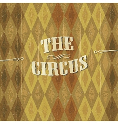 vintage circus background with the desig vector image