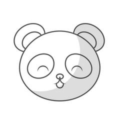cute shadow panda bear face vector image vector image