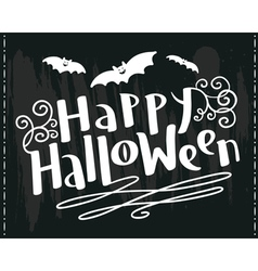 Happy Halloween hand-drawing lettering vector image vector image