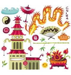 oriental set of design elements vector image