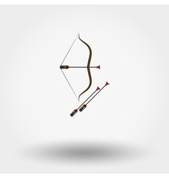Bow and arrow toy vector image