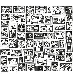 paranormal things secret crime - doodles set vector image