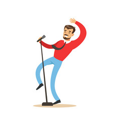 singer man performing a song vector image vector image