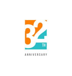 32 th anniversary celebration logo template design vector