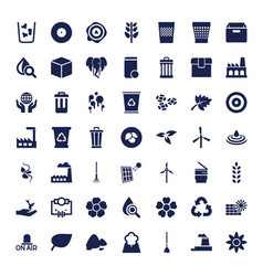 49 environment icons vector