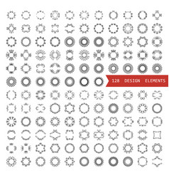 a large set of circular design elements vector image