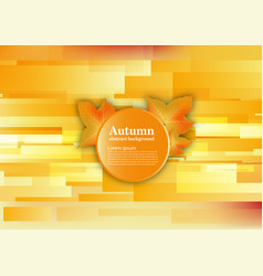 abstract background for autumn concept vector image