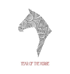 Abstract sketch Chinese new year of the Horse vector image